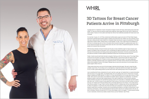 Pittsburgh plastic surgeon Dr. James O'Toole is offering 3D nipple and areola tattoos for women